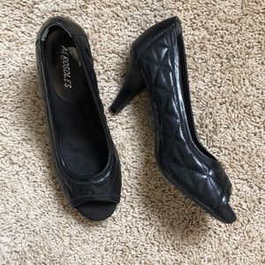 Aerosoles quilted peep toe heels
